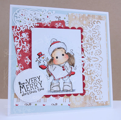 Heather's Hobbie Haven - Tilda with Little Snowy Card Kit