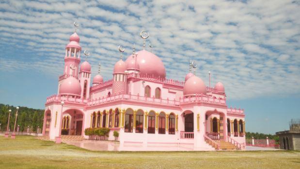 The Masjid Dimaukom or Pink Mosque in Datu Saudi Ampatuan, Maguindanao