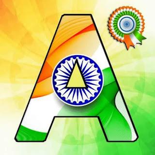 Tiranga Whatsapp DP aphabet image  A