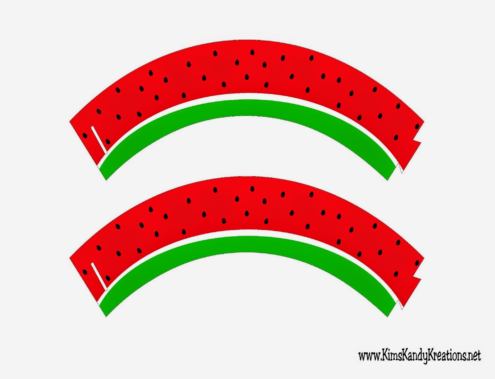 Watermelon ,Free Printable Cupcake Wrappers.