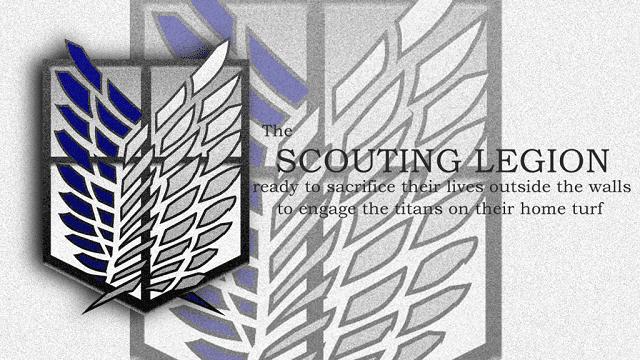 Pasukan pengintai bertugas di luar dinding untuk menggali informasi lebih dalam tentang titan