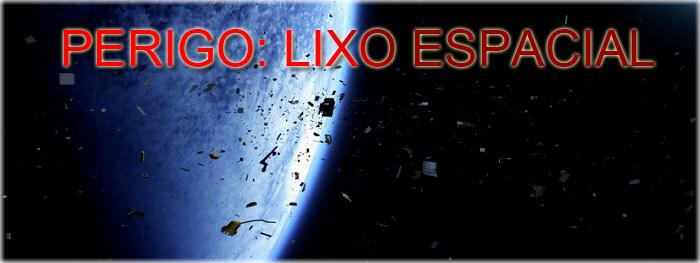 lixo espacial ao redor de Terra