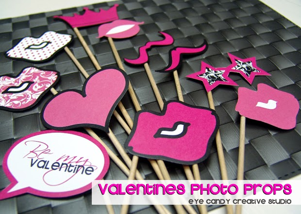 photo props for Valentines day classroom party, photo props