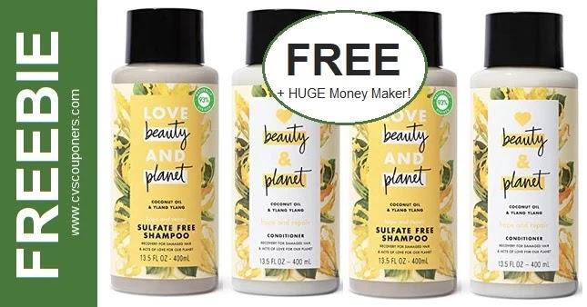 FREE Love Beauty & Planet Shampoo at CVS