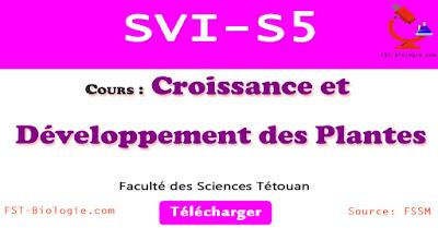 COURS de Croissance et développement des plantes SVI Semestre S5 PDF à Télécharger SVT 5