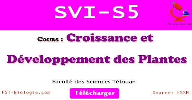Cours Croissance et Développement des Palntes SVI S5 PDF