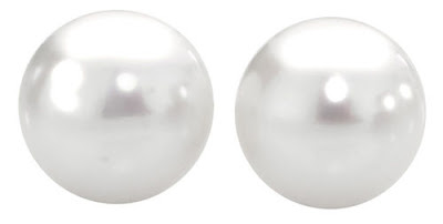 Stud Earrings with 9mm Cultured Freshwater Pearl in 10ct Gold