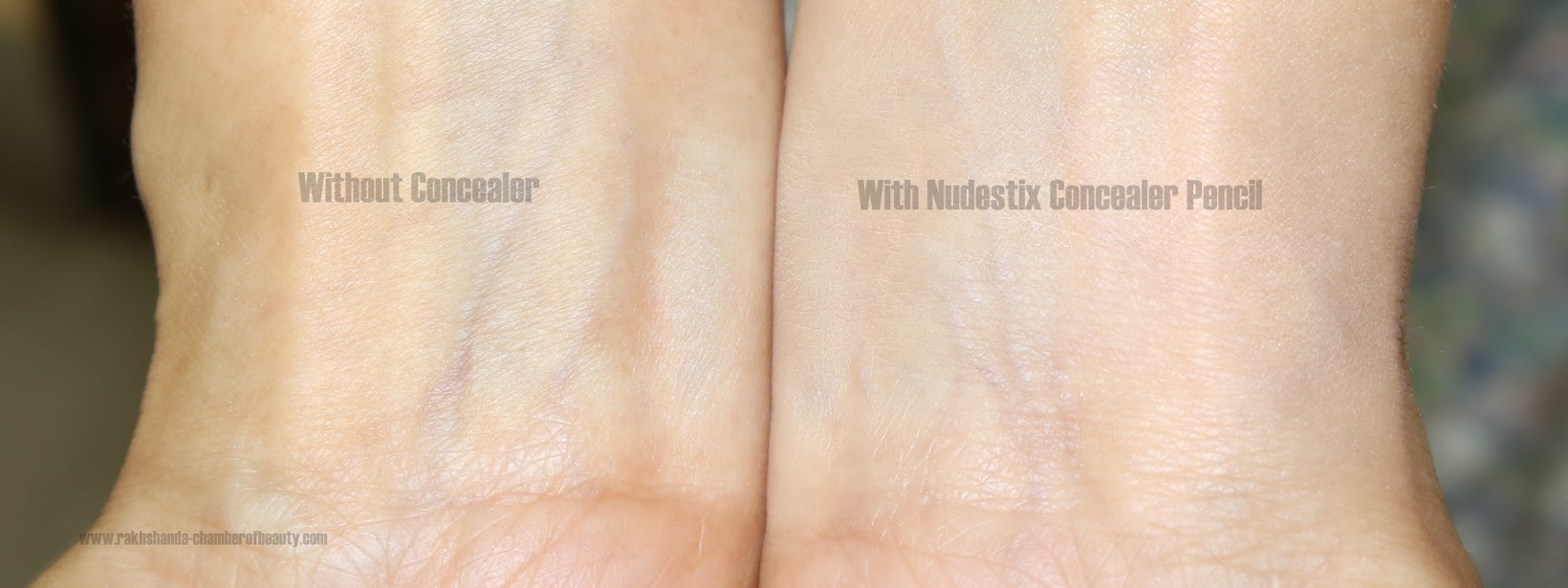 Nudestix Concealer Pencil 'Light 2' review, swatches, best concealers for fair skin, concealer, Indian beauty blogger, Nudestix, Nudestix Concealer Pencil review, review, review and swatches,