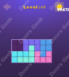 Cheats, Solutions, Walkthrough for Move Blocks Easy Level 108