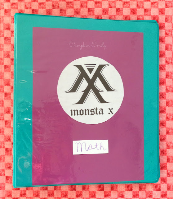 DIY Monsta X Binder Cover