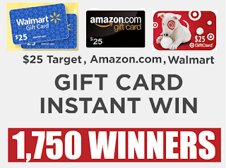 Win a $25 Amazon, Target or Walmart Gift Card Instantly From