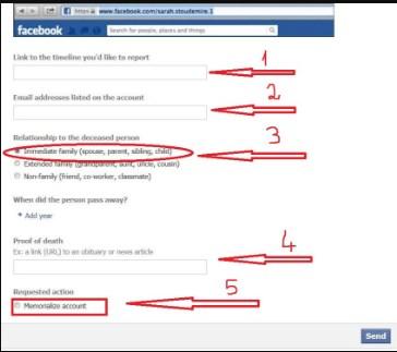 Memorializing Accounts Facebook