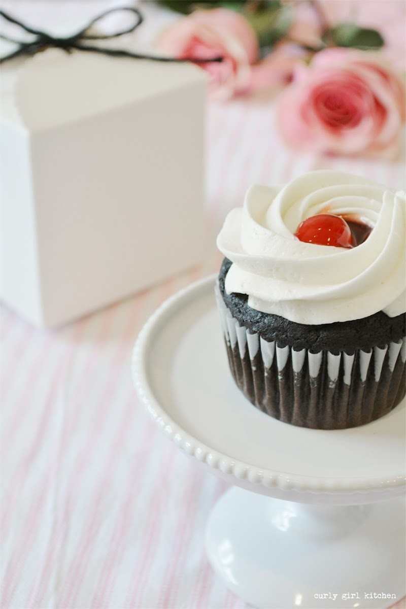 Chocolate Cherry Cream Cheese Cupcake