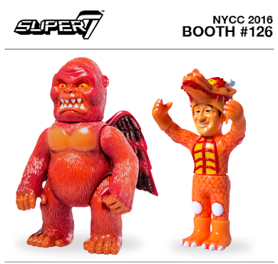 "New York Comic Con 2016 Exclusive Vinyl Figures by Super7 – ""Maroon Baboon"" Wing Kong & Steve Caballero ""Original Orange"" Cab Dragon"