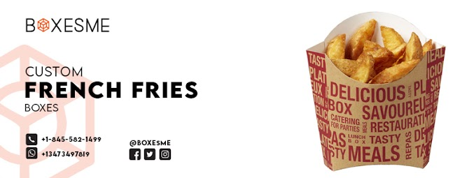 Order Customized French Fries Boxes made of Durable Cardboard
