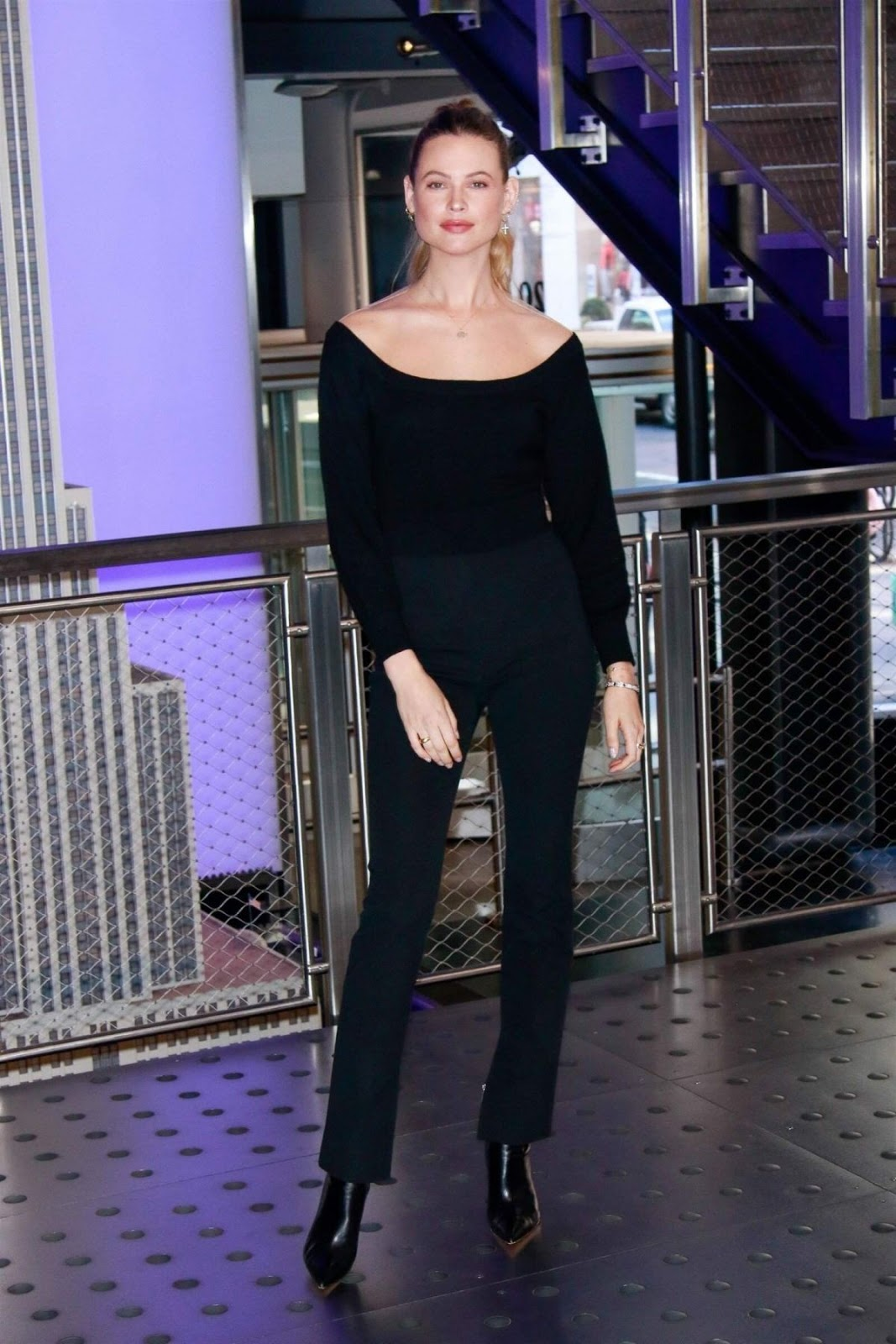 Behati Prinsloo looks classy in an all-black ensemble as she lights up the Empire State Building in honor of World Wildlife Day