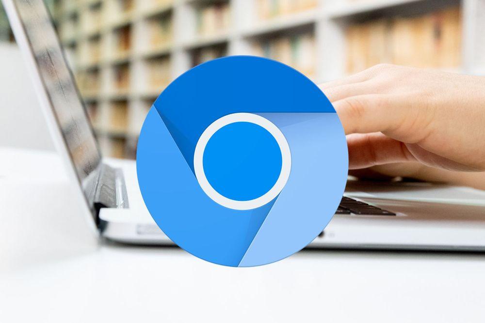 متصفح جوجل الازرق