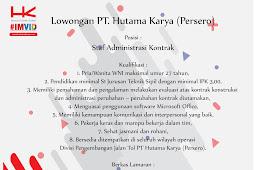 Lowongan Kerja PT. Hutama Karya (Persero)