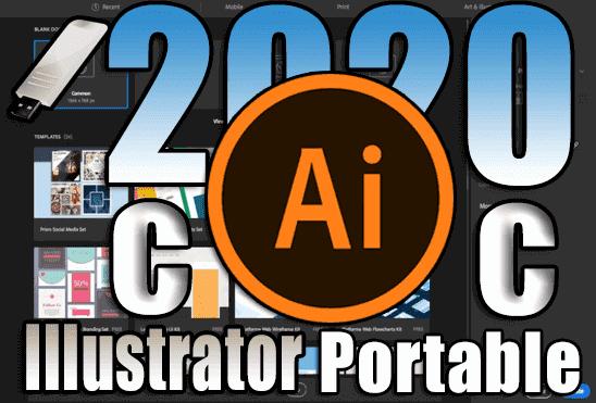 تحميل برنامج Adobe Illustrator CC 2020 Portable اخر اصدار نسخة محمولة مفعلة