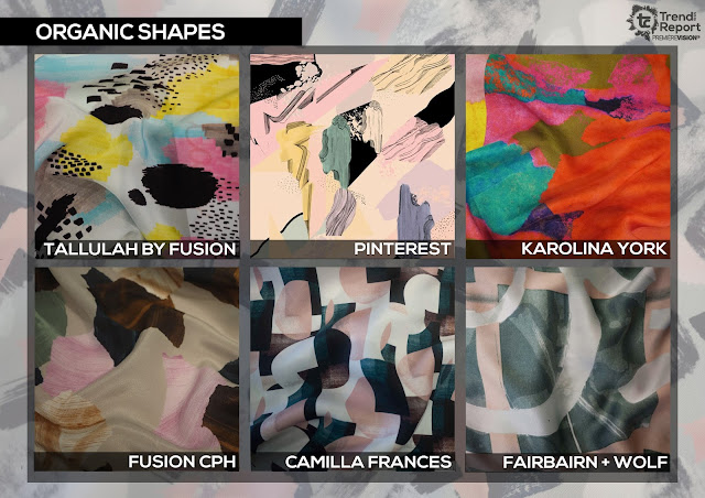 Textile Candy, Organic shapes, Abstract markings, paint strokes, Talulah by Fusion, Camilla frances, karolina york, fusion cph, fairbairn and wolf studio, Premiere vision, trend report, trend forecasting, Spring/Summer 2018, SS18