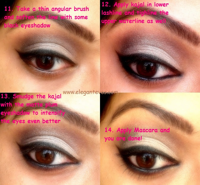 Bengali Bridal Eye Makeup: Soft Taupe Smokey Eyes