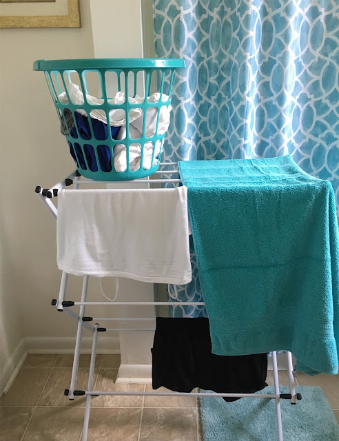 air dry delicate clothing on a foldable drying rack #ad