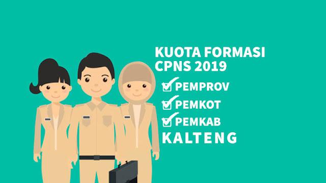 Kuota Formasi CPNS 2019 Provinsi Kota Kabupaten di Kalimantan Tengah