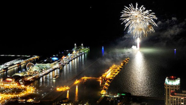 Navy Pier em Chicago nos Estados Unidos