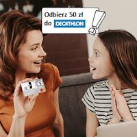 Voucher 50 zł do sklepów Decathlon Za Konto Proste Zasady Junior (dla młodych w wieku 13-18 lat) w Getin Banku