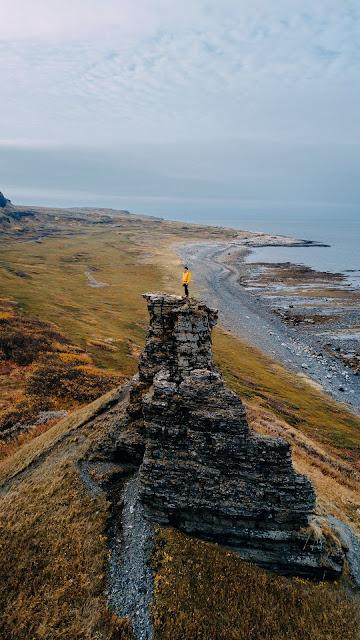 Traveler, Landscape, Sea, Rock, Coast