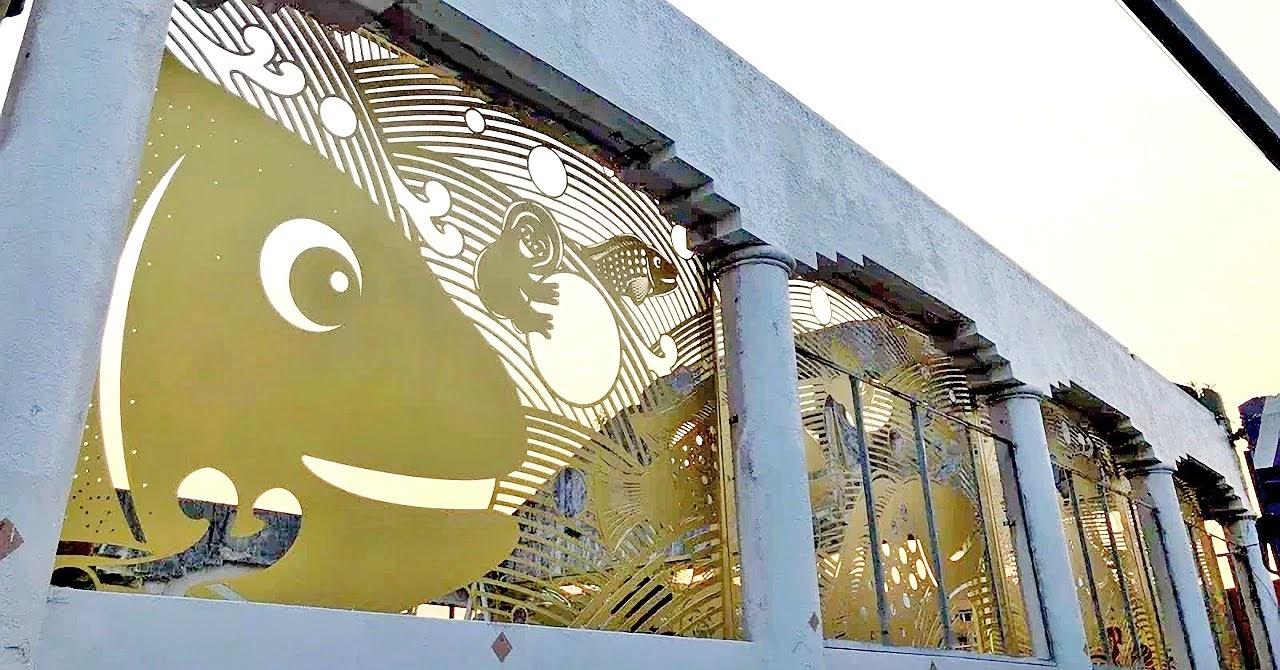 舊魚市場原址保存|金黃藝術牆面12月華麗登場