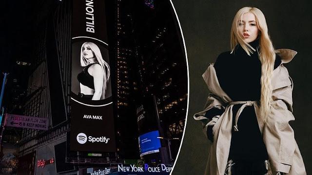 """Il successo dell'albanese Ava Max è promosso a """"Times Square"""" a New York"""