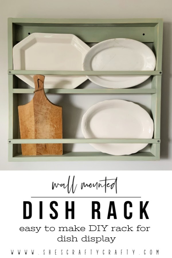 Wall Mounted Dish Rack  |   Easy instructions for making a dish display rack for your home  |   She's Crafty