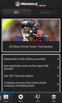 NFL Mobile for BlackBerry