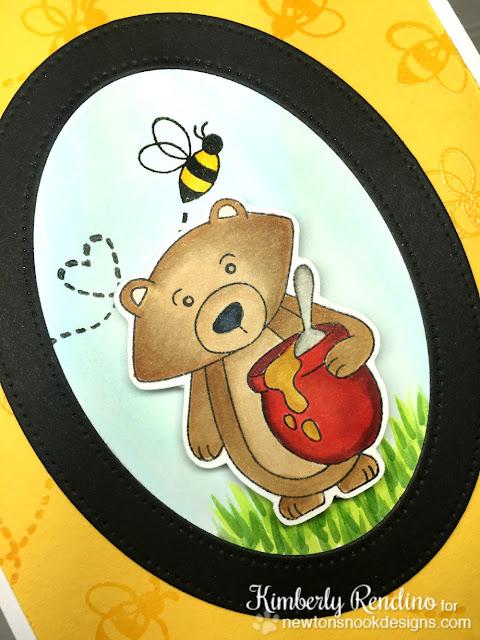 newton's nook designs | honeybee | bear | honeypot | kimpletekreativity.blogspot.com | handmade card | embossing