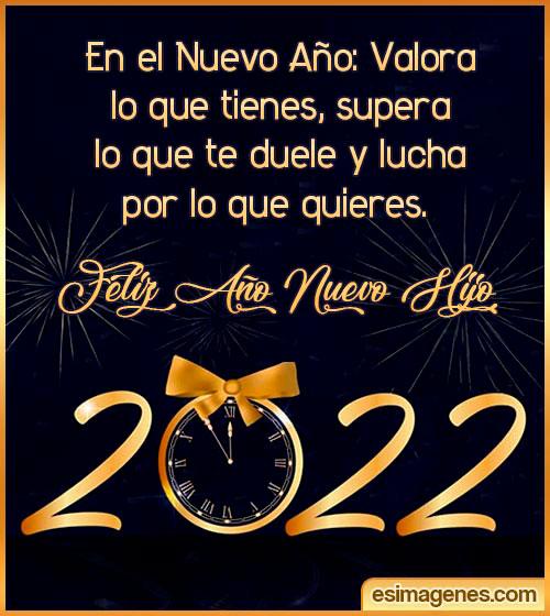 Feliz Año Nuevo 2022 Hijo