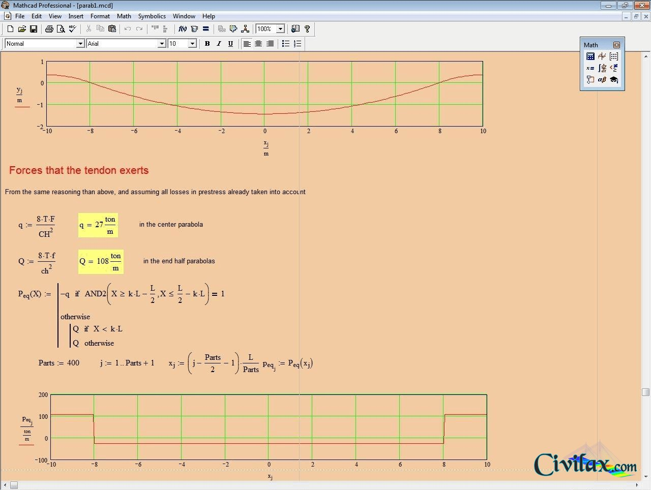 Mathcad Worksheets For Prestress Tendons