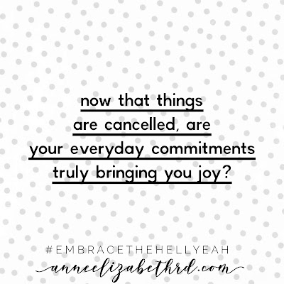 """Are Your Commitments Bringing You Joy? Weekly Wisdom"