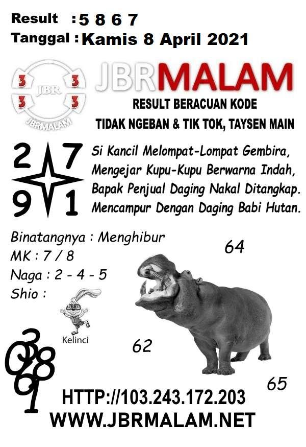 JBR Malam HK Kamis 08 April 2021