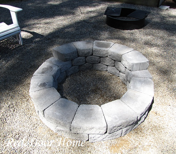 Red Door Home: Building a Fire Pit
