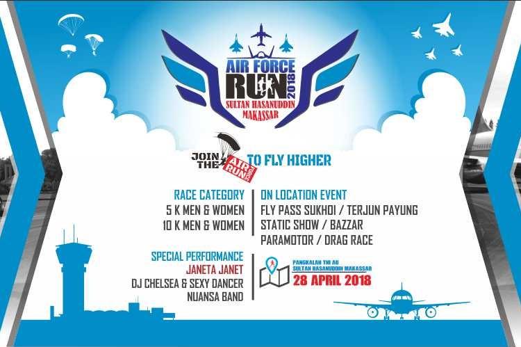 Sultan Hasanuddin Air Force Run • 2018