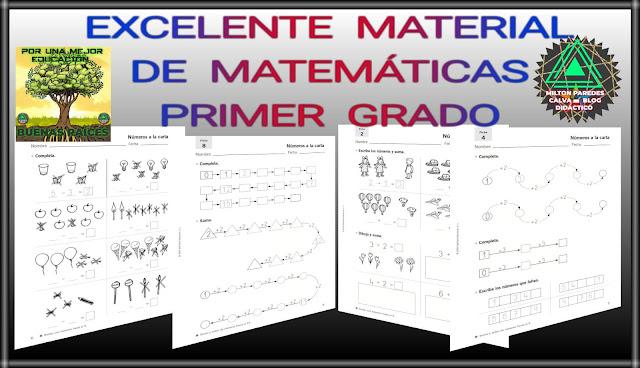 EJERCICIOS DE MATEMÁTICAS-PRIMER GRADO