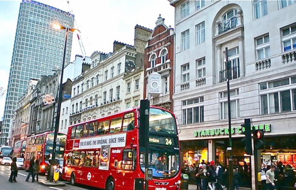 Rua Oxford Street em Londres
