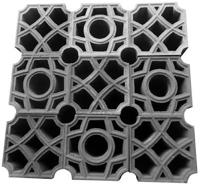 roster masjid motif rembulan / bulat tipe cluster