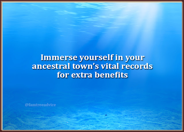 Take a deep dive and become an expert in your ancestral town.