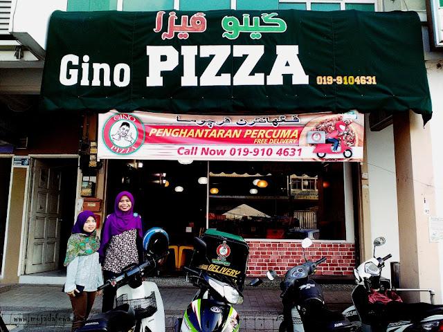 review gino pizza, pizza sedap kelantan, pizza besar kota bharu