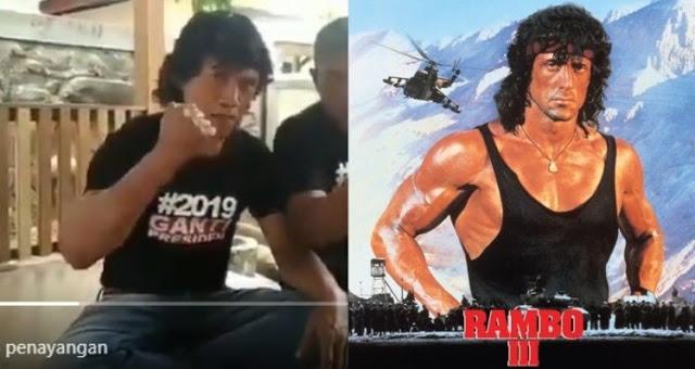 "Super Mantap!!! ""Rambo"" Dukung 2019 Ganti Presiden 👍👍😍"