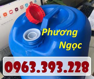 Can đựng hóa chất 25 Lít, can nhựa vuông tròn, can nhựa HDPE Cf268ad5d19a2ac4738b