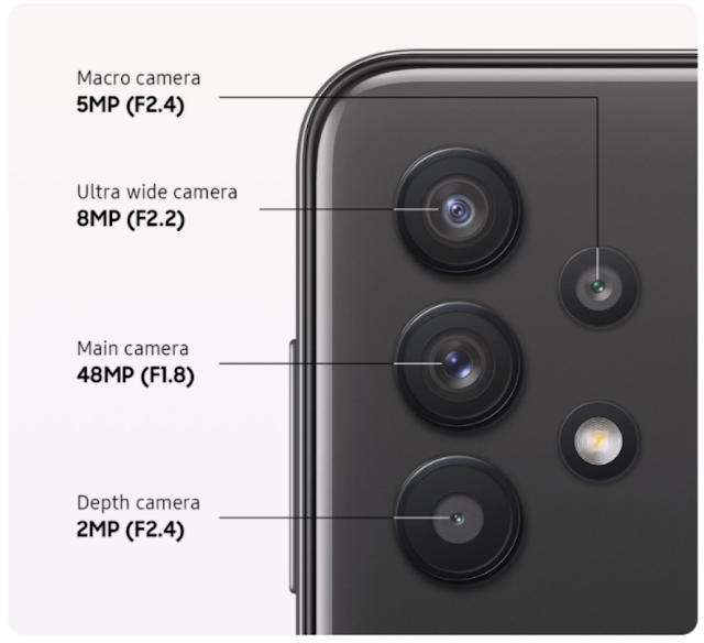 Kamera Samsung Galaxy A32 5G
