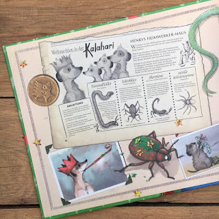 """""""Weihnachtspost vom Erdmännchen"""" von Emily Gravett, Sauerländer Verlag, Buchvorstellung auf Kinderbuchblog Familienbücherei"""